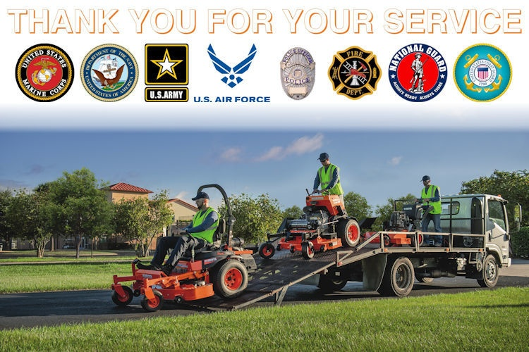 Kubota's Thank You for Your Service Program